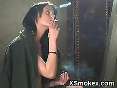 X-rated Demoiselle Smoking Dissolute..
