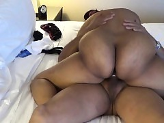 Fat Botheration Indian MILF riding his..