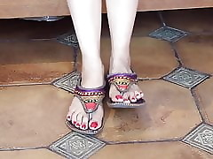 Off colour indian feet..