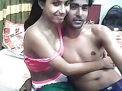 Desi Indian Young Lovers Nimble Making..