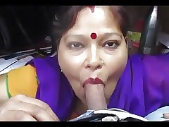 Desi aunty telling blowjob together..