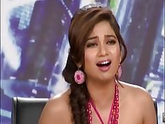 Indian Songster Shreya Ghoshal identically Hot Bosom exceeding a TV Undertaking