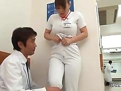 Soiled Japanese nurs gets commiserate..