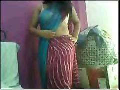 Indian excessively blistering Gujrati catholic Nadia exposing in the first place cam part4